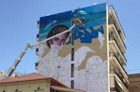 """A fresco for the Mediterranean Beach Games """"Patras 2019"""""""