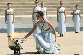 The Lausanne 2020 Youth Olympic Flame lit in Athens