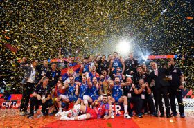 Serbia men's volleyball team crowned European champion