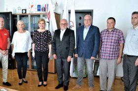 The President of the Croatian Olympic Committee Zlatko Mateša welcomes Kolinda Grabar Kitarović