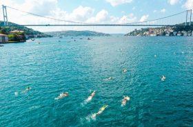 Turkish Olympic Committee organized the Bosphorus Cross-Continental Swimming Race