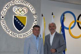 Coopération entre les Comités Olympiques de Bosnie-Herzégovine et de Slovénie