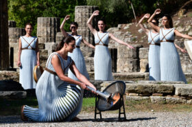 Olympic flame for Beijing 2022 lit in Ancient Olympia